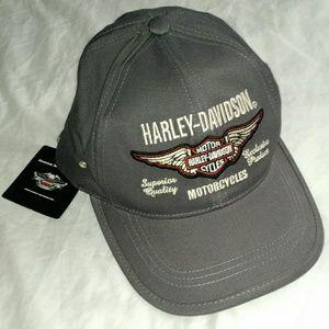 Harley Davidson Motorcycles - Gray Stretch Cap NWT